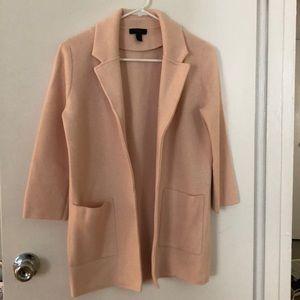 J. Crew Sweater Blazer, Blush, Size XXS